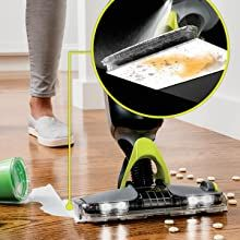 absorb wet messes, absorbent mop pad, mop sealed floors, mop for sealed floors