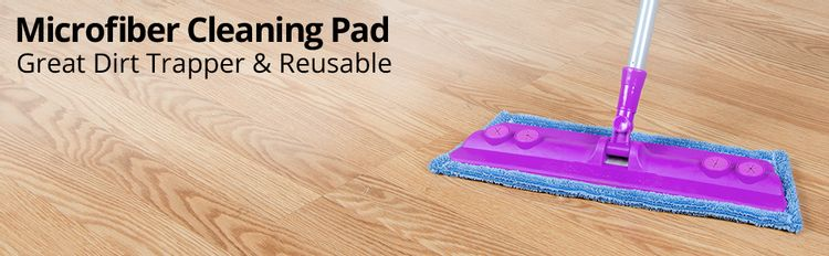 Microfiber Cleaning Pad, Wet Mop Pad, Dry Mop Pad, Cleaning Pad, Machine Washable Cleaning Pad