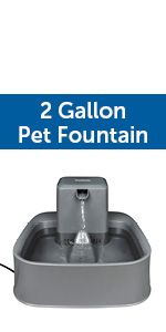 dog cat multi pet filtered water fountain large capacity