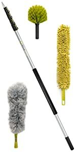 DocaPole 24' ft foot cleaning dusting kit set extension pole cobweb feather duster DocaPole Docazoo