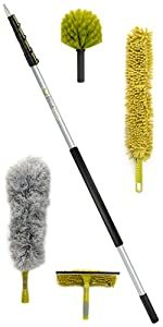 DocaPole 24' ft foot cleaning dusting kit set extension pole duster squeegee DocaPole by Docazoo